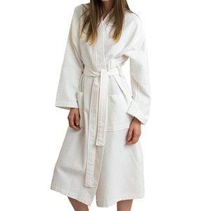 Turkish Cotton Kimono Waffle Robe NWOT unisex